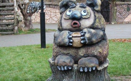Фигура в детском парке города Козельска фотография