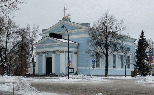 фотография лютеранской церкви в Хамине