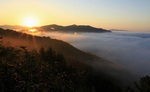 Река Туманган на закате фото