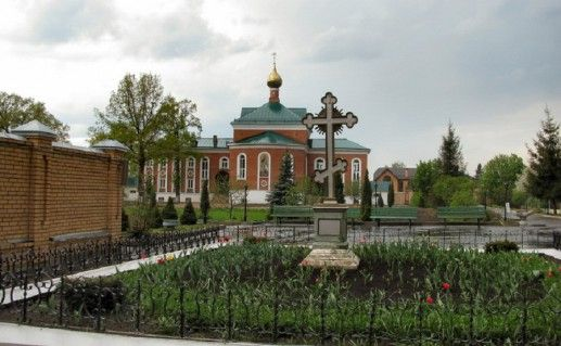 двор Покровско-Васильевского монастыря в Павловском Посаде фото