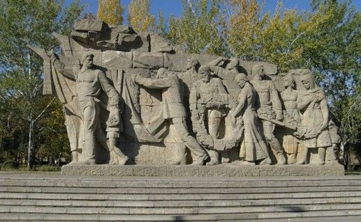 фотография волгоградского горельефа Память поколений