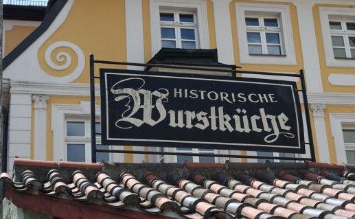регенсбургская историческая колбасная кухня фотография