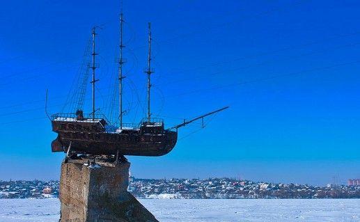 фото макета корабля Меркурия в Воронеже