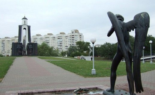 фото ангела на Острове слез в Минске