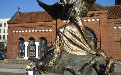 фотография минского памятника Архангела Михаила