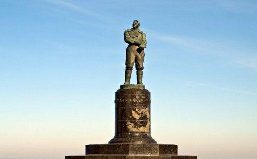 нижегородский памятник Чкалову фото