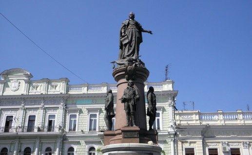 фотография памятника основателям Одессы