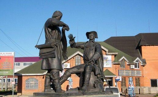 вышневолоцкий памятник Петру I и Сердюкову фотография
