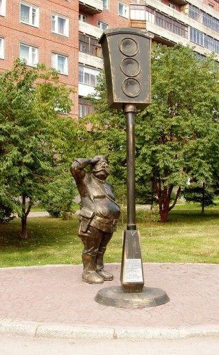 фотография новосибирского памятника светофору