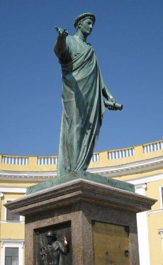 памятник Ришелье в Одессе фотография
