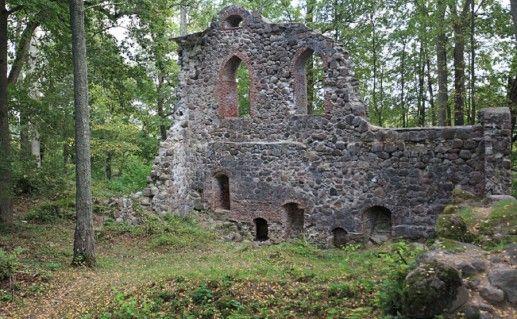 фотография руин Кримулдского замка в Сигулде