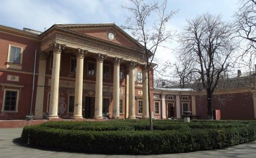 фотография вида издали на одесский художественный музей