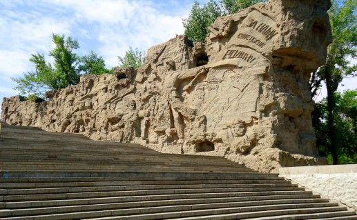 фотография стен-руин в Волгограде