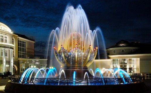 фото фонтана Фаберже в Ханты-Мансийске