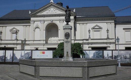 фото фонтана Симона Даха в Клайпеде