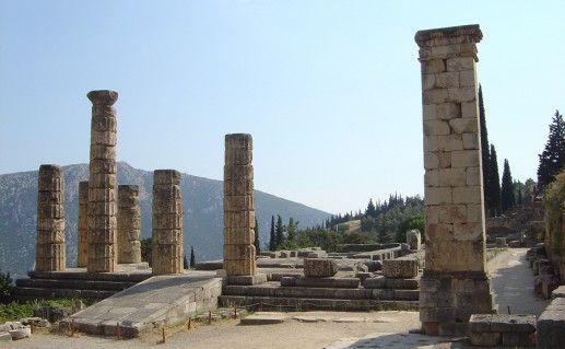 фото храма Апполона в Дельфах