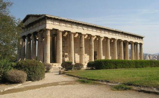 фотография греческого храма Гефеста