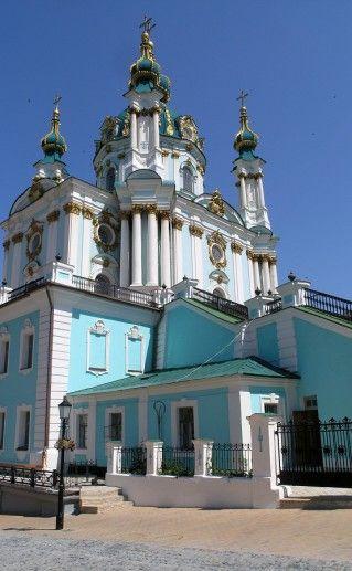 Андреевская церковь в Киеве фотография