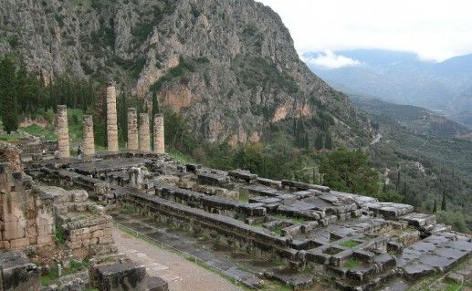вид на храм Аполлона фотография