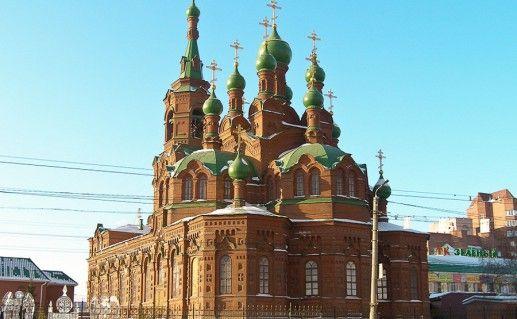 вид на храм Святой Троицы в Челябинске фотография