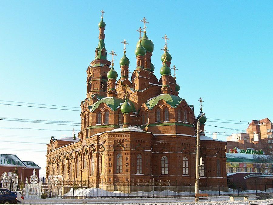 Храмы Челябинска Фото  вид на храм Святой Троицы в Челябинске фотография