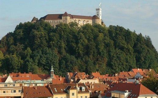 фото вида на Люблянский замок