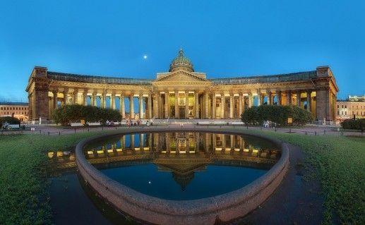 фотография вида на петербургский Казанский собор