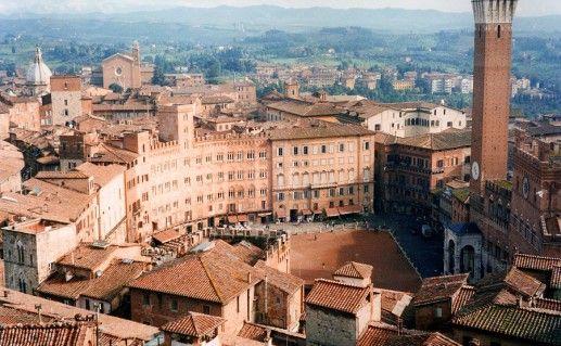 фотография вида сверху на Пьяцца дель Кампо