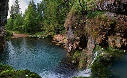 фотография башкирского водопада Атыш
