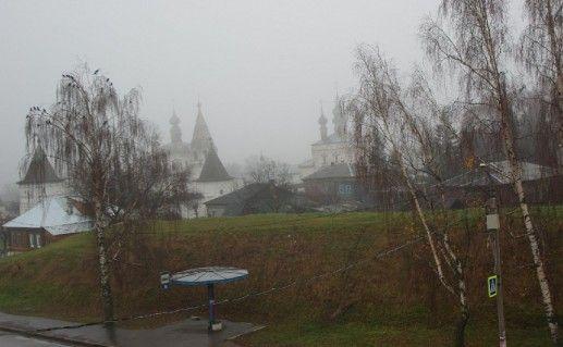 фото земляного вала вокруг Древнего Кремля в Юрьев-Польском