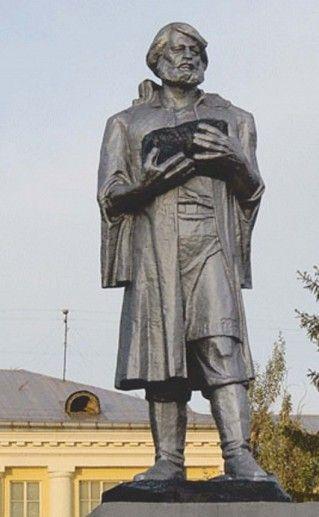 фото кемеровского памятника Михайло Волкову
