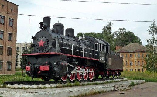 фотография паровоза ЭШ-4290 в Вязьме