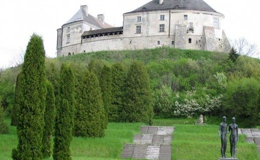фотография вида Олесского замка на Украине