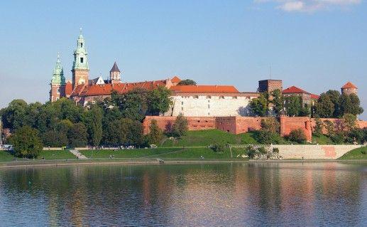 фото вида на польский замок Вавель