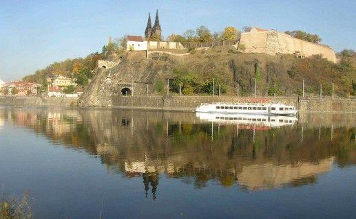 фото вида на Вышеград в Праге