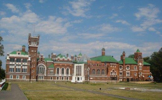 вид на Шереметевский замок в России фото