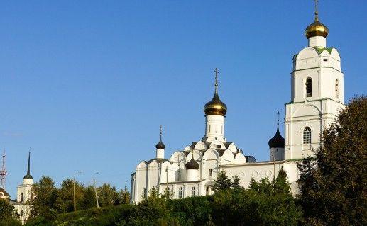 вид на вяземский Свято-Троицкий собор фотография