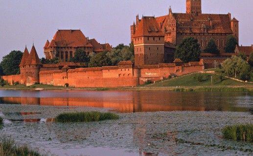 фотография польского замка Мальборк