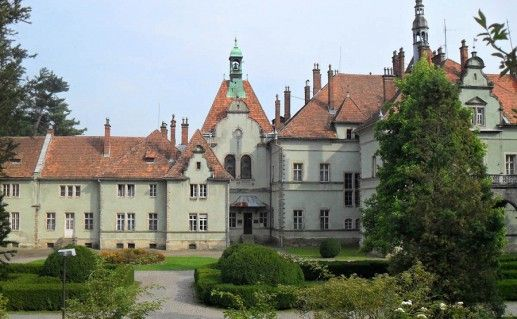 вид на украинский замок Шенборнов фотография