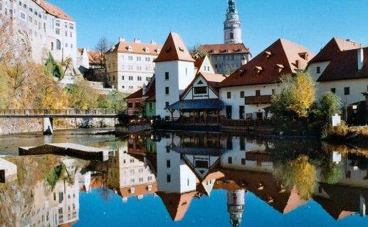 чешский замок Крумлов фотография