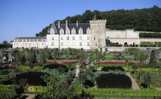французский замок Вилландри на Луаре фото