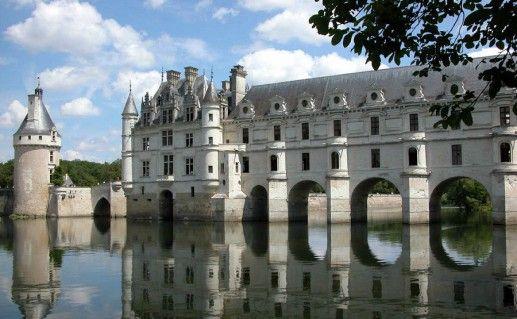 фотография французского замка Шенонсо на Луаре