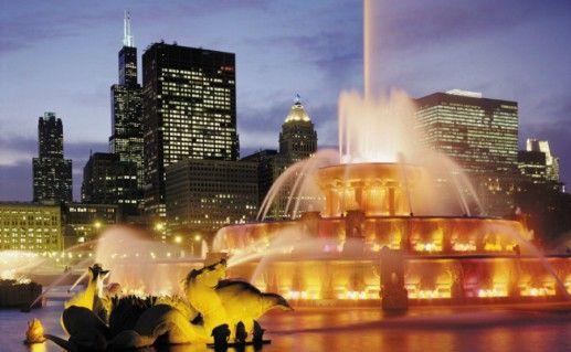 Фотография чикагский Букингемский фонтан