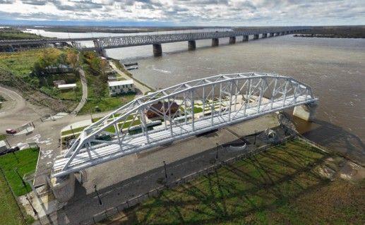 Хабаровский мост и его музей фотография