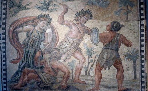 Мозаики Дома Диониса фотография
