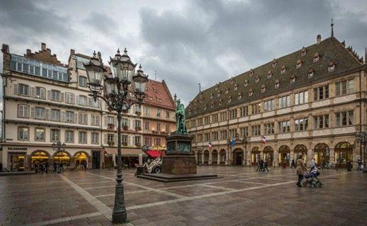 Фото площадь Гутенберга в Страсбурге