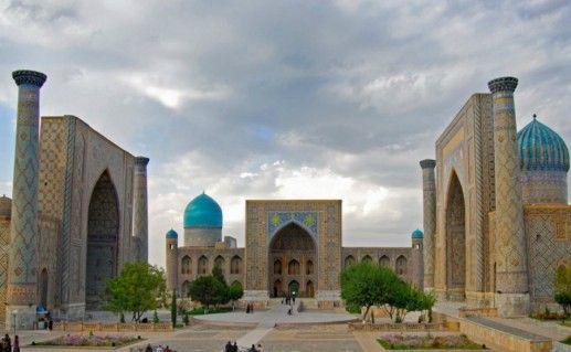 Фото площадь Регистан в Самарканде