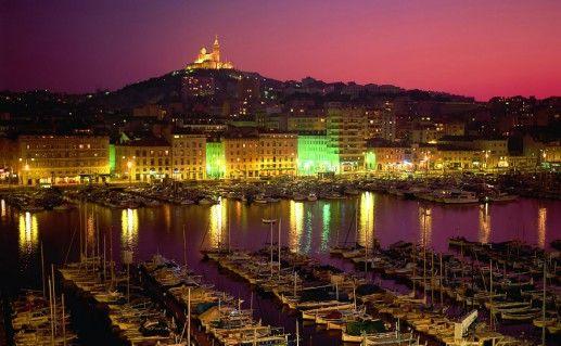 Старый порт Марселя фото