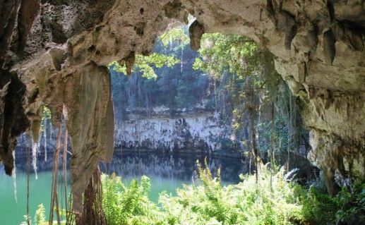 Фотография пещера «Три глаза»
