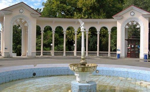 фото Гагрской колоннады